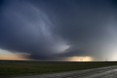 A line of supercells on the dryline